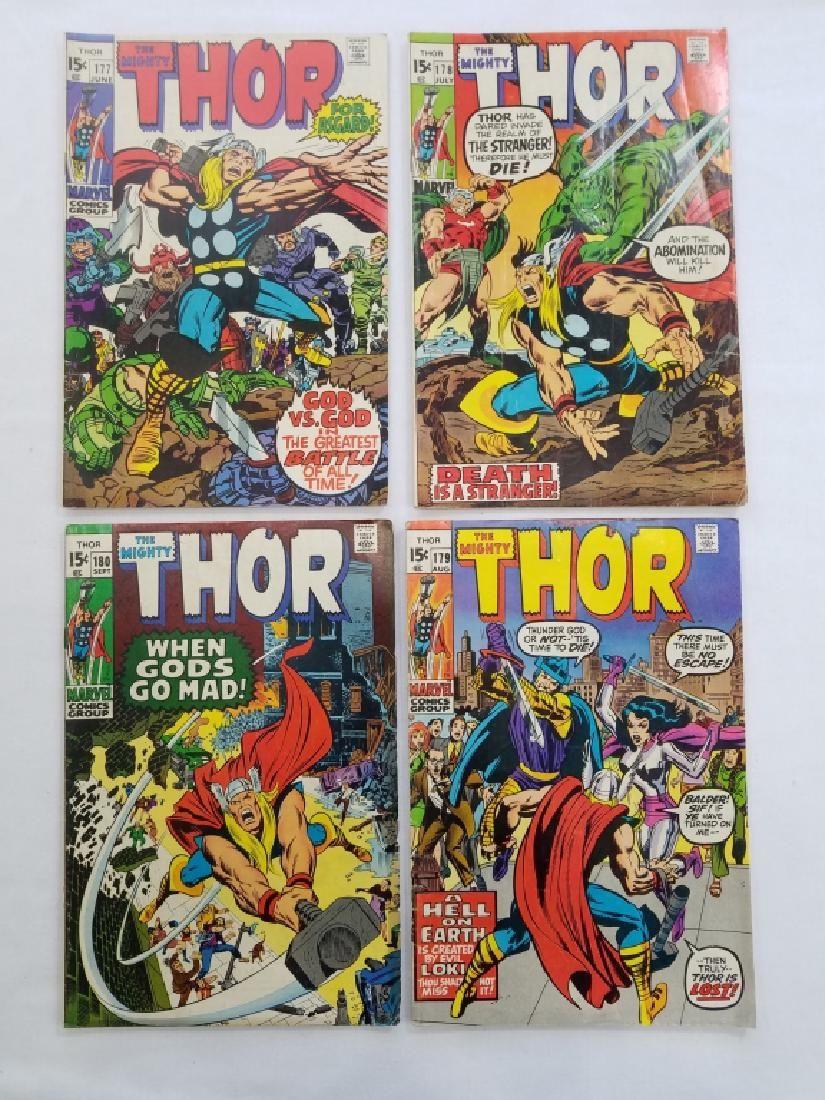 MARVEL THOR #177 #178 #179 #180 Comic Books