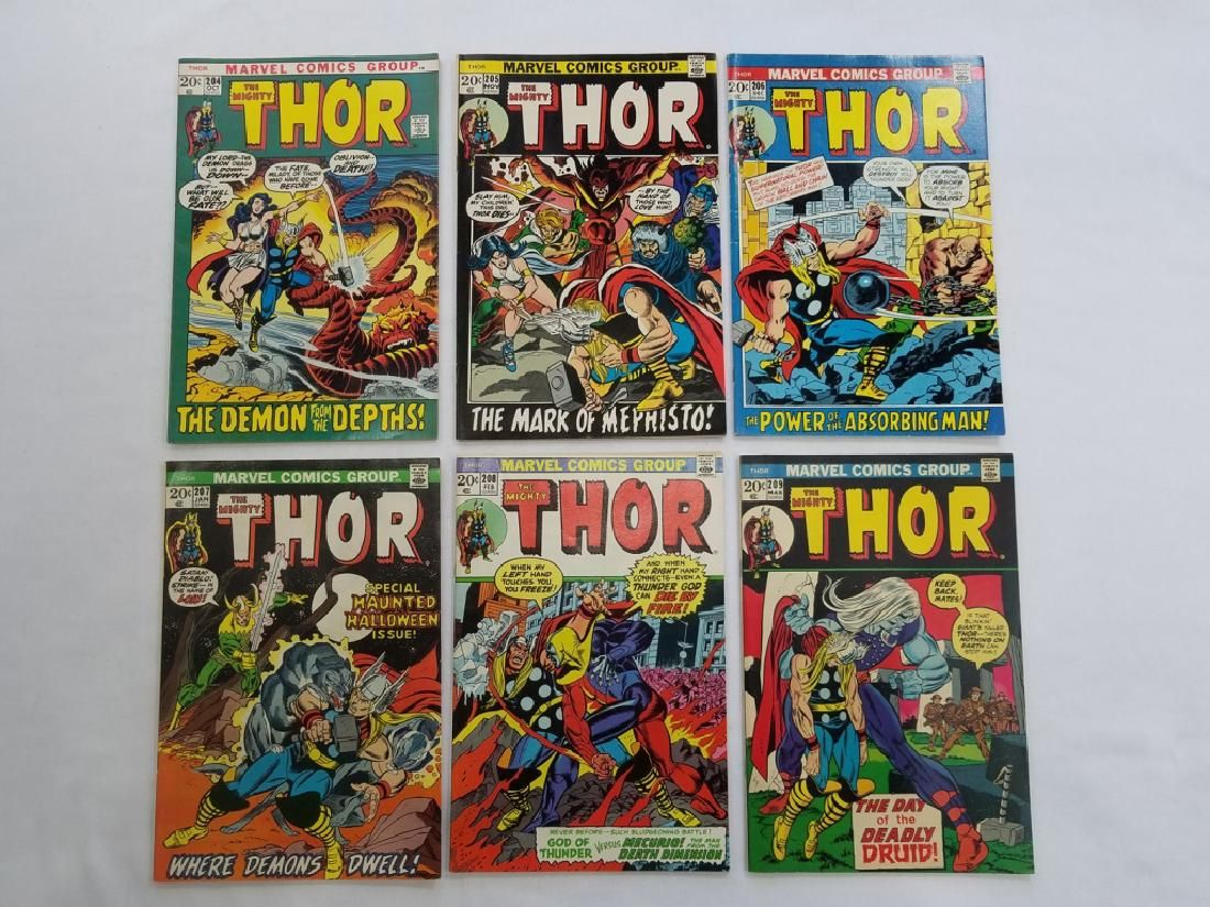 MARVEL THOR #204 #205 #206 #207 #208 #209 Comics