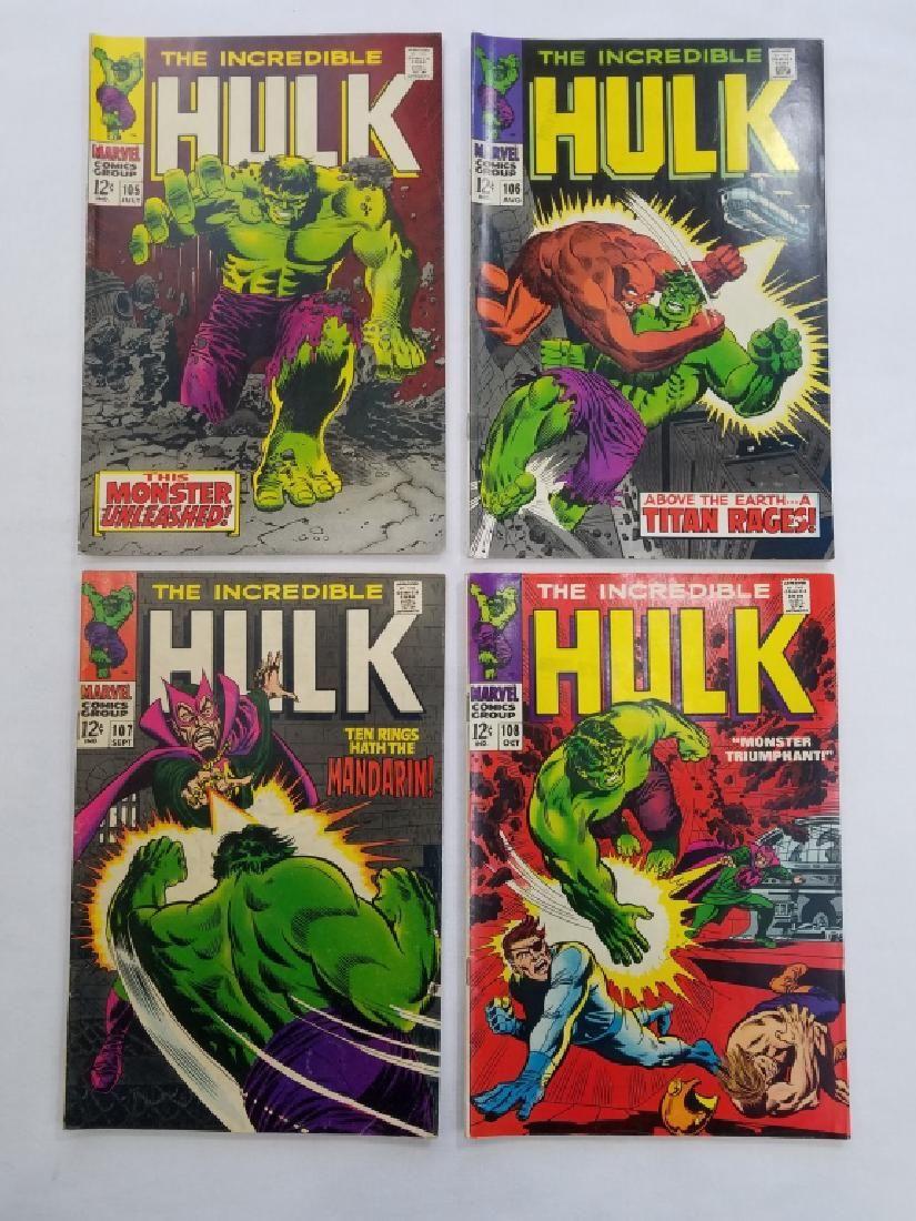 MARVEL HULK #105 #106 #107 #108 Comic Books