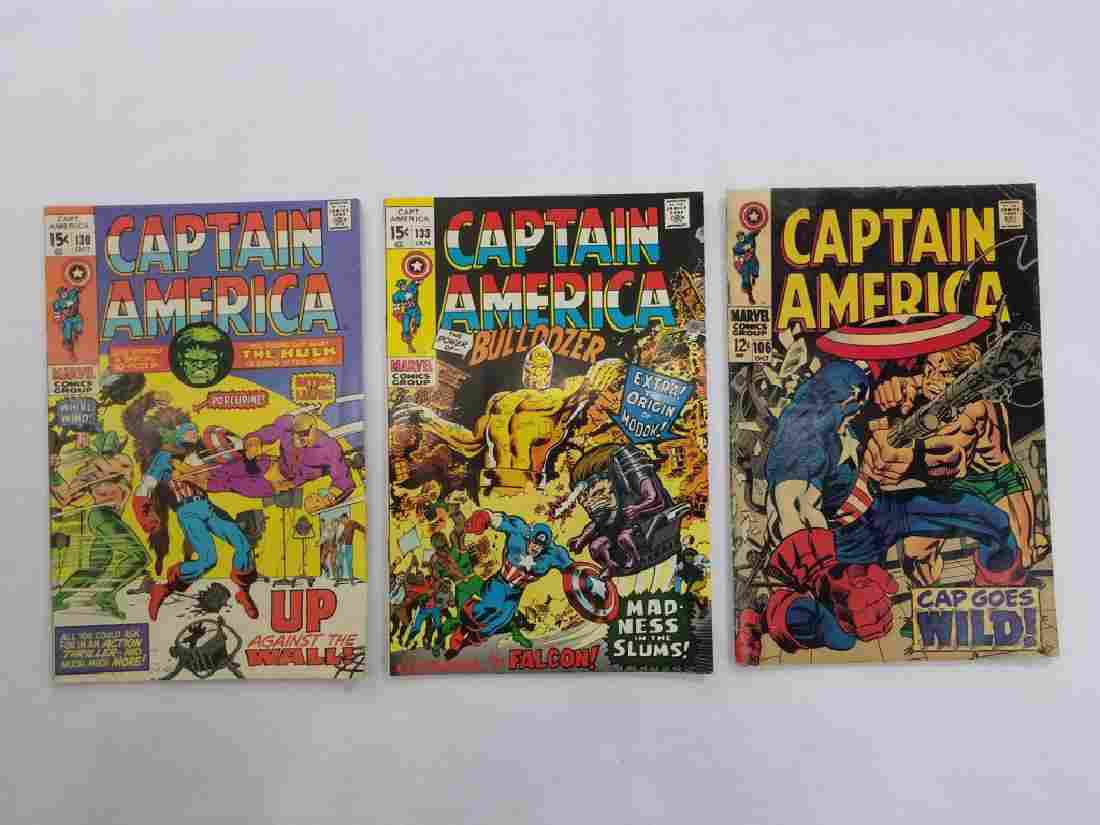 MARVEL CAPT AMERICA #106 #130 #133 Comic Books