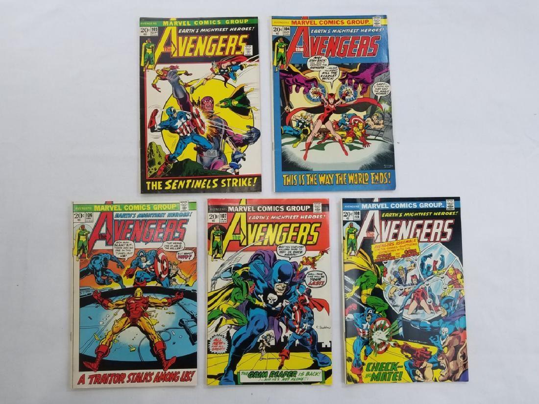 MARVEL AVENGERS #103 #104 #106 #107 #108 Comics