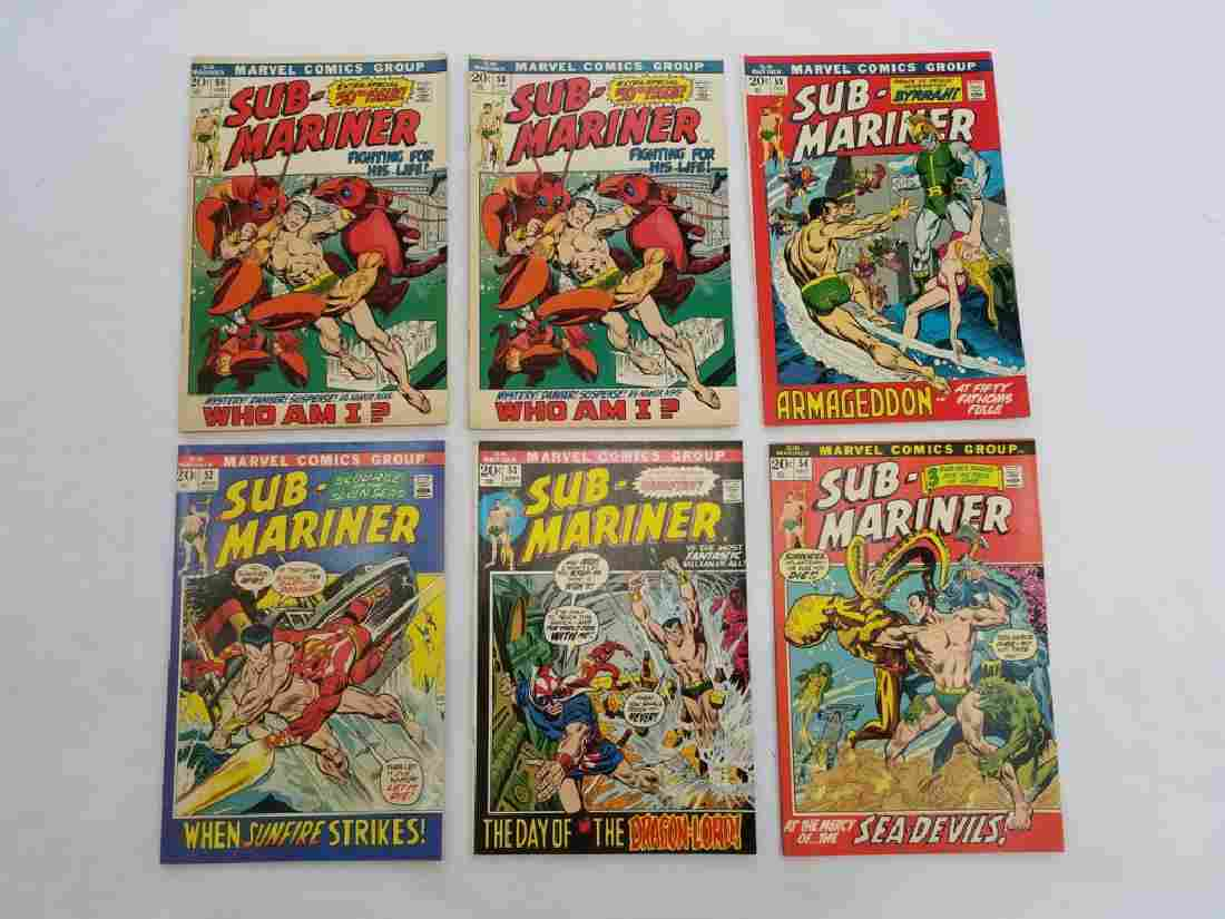 MARVEL SUB-MARINER #50 x2 #51 #52 #53 #54 Comics