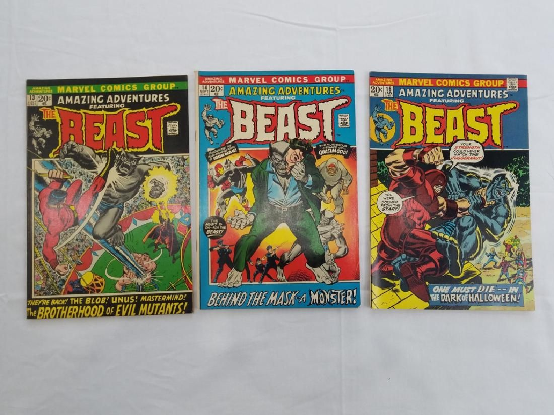 MARVEL AMAZING ADVENTURES THE BEAST #13 #14 #16