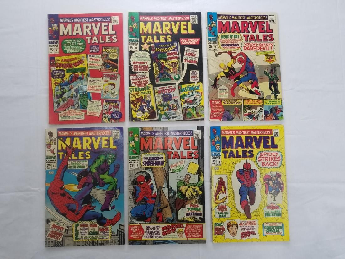 MARVEL TALES #9,10,11,12,13,14 COMIC BOOKS