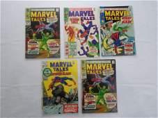 MARVEL TALES #15X2 #16 #19 #32 COMIC BOOKS