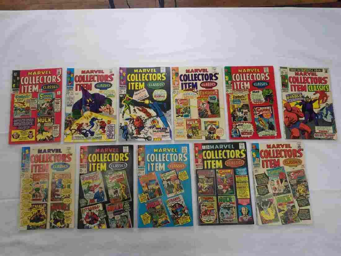 MARVEL COLLECTORS ITEM CLASSICS LOT OF 11 BOOKS