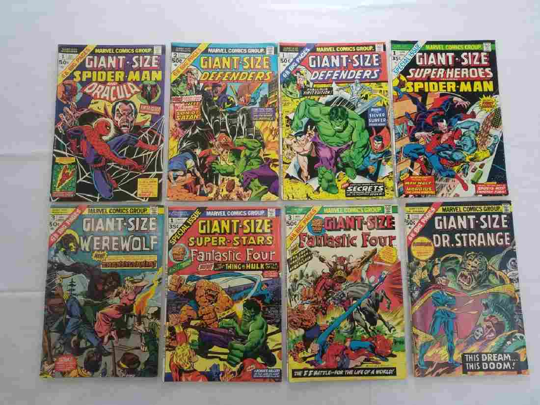 MARVEL GIANT SIZE GROUPING LOT OF 8 BOOKS
