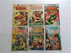 DC TARZAN VINTAGE COMICS LOT OF 6