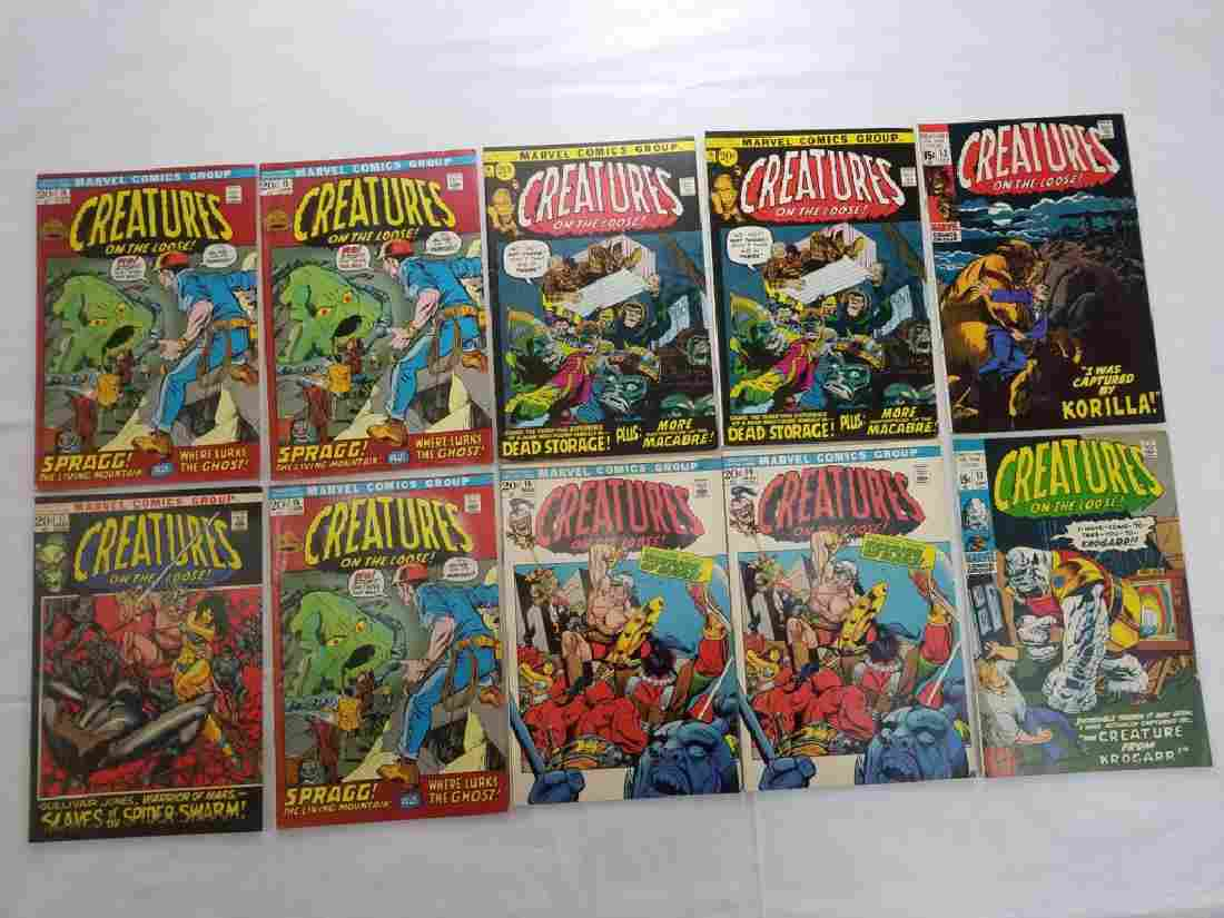 MARVEL CREATURES ON THE LOOSE LOT OF 10