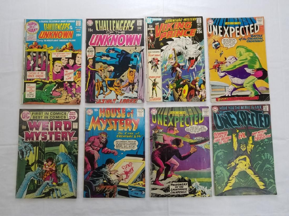 DC VINTAGE COMIC BOOK GROUPING LOT OF 8