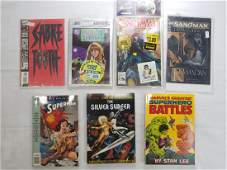 LOT OF 7 CONTEMPORARY COMICS AND BOOKS