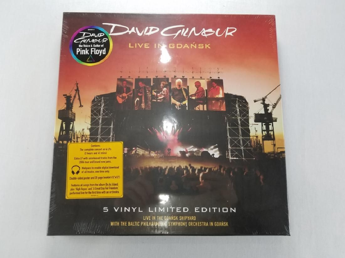 "DAVID GILMOUR ""Live in Gdansk"" Box Set NIB"