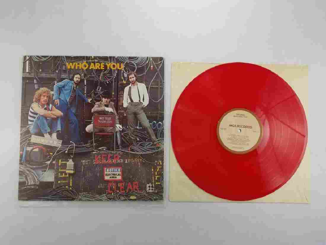 """THE WHO """"Who Are You"""" Red Vinyl CANADA"""