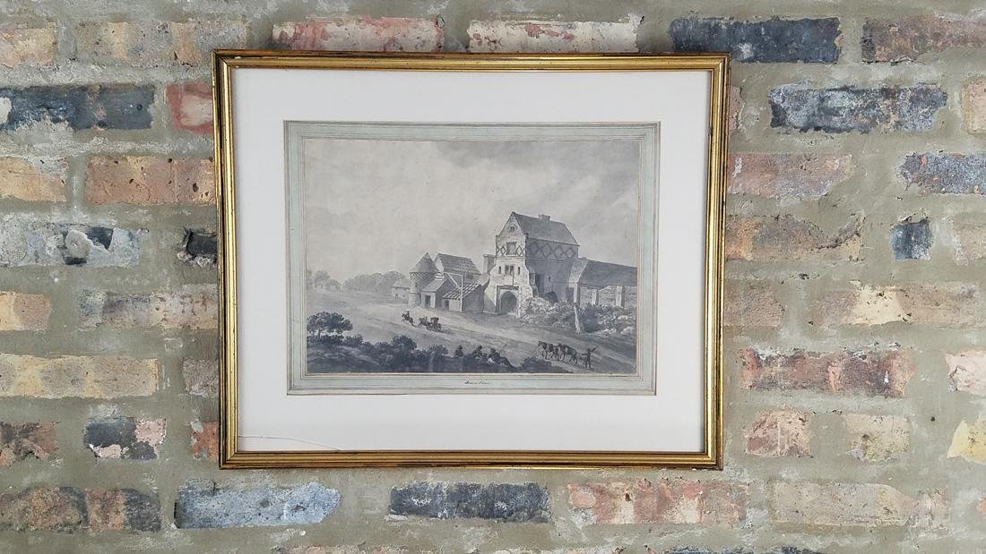 James & Robert Adam Attr. Watercolor 18th C.