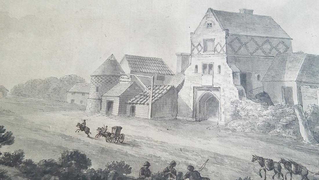 James & Robert Adam Attr. Watercolor 18th C. - 2