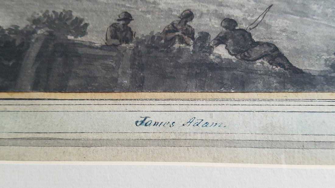 James & Robert Adam Attr. Watercolor 18th C. - 3