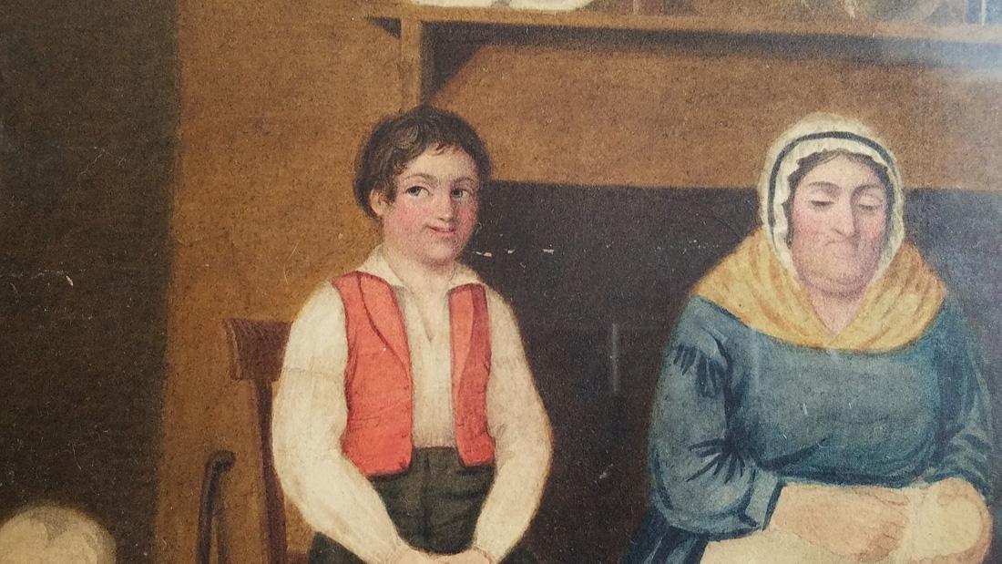 Early 19th Century Folk Art Watercolor - 3