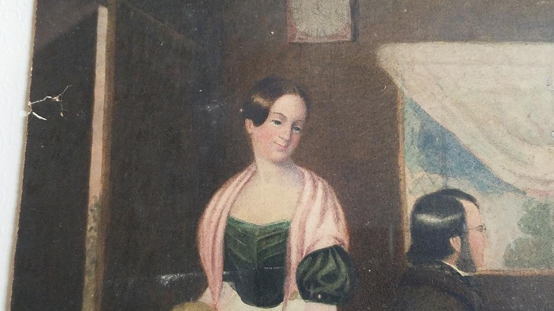 Early 19th Century Folk Art Watercolor - 5