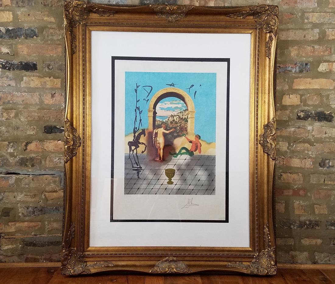Salvador Dali Signed Gateway to The New World