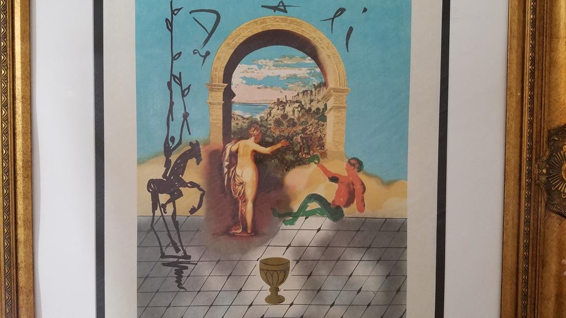 Salvador Dali Signed Gateway to The New World - 2