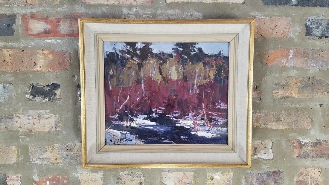 W.J. Hopkinson Oil Painting on Board