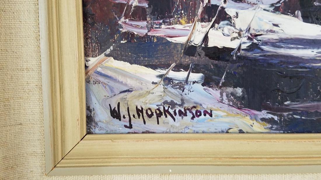 W.J. Hopkinson Oil Painting on Board - 3
