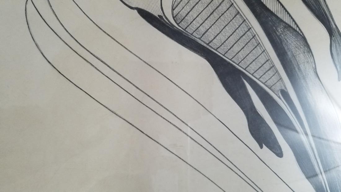 Art Deco Ski Jumper Hand Signed Print Surrealist - 3