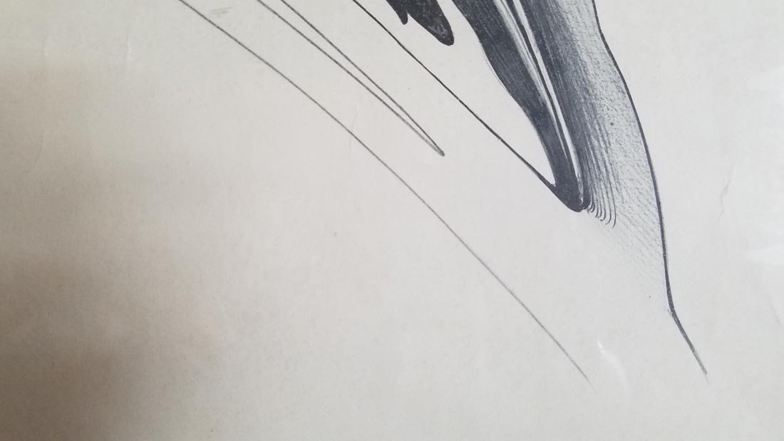 Art Deco Ski Jumper Hand Signed Print Surrealist - 5