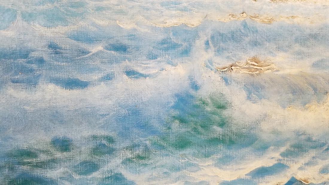 Carlo Cassati Seascape Oil on Canvas - 3