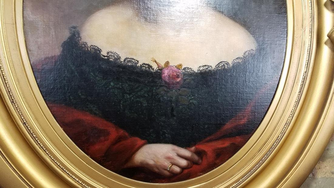 18th C. Portrait of Woman in Monumental Gilt Frame - 3