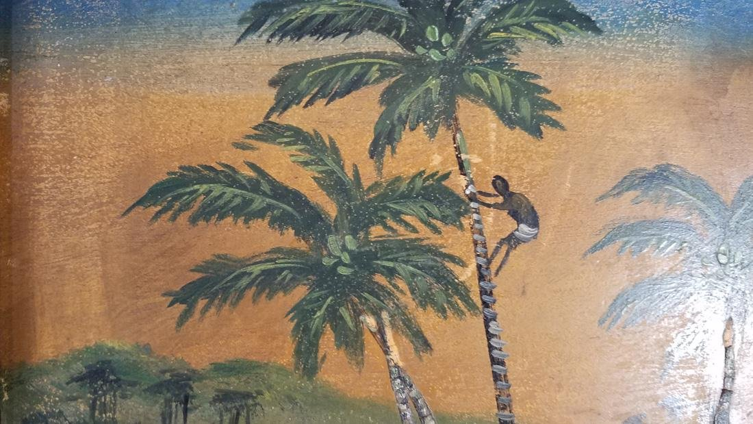 1920s Hawaii Souvenir Oil Painting on Board, Japanese - 2