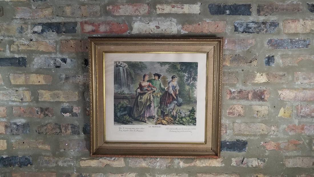 Antique French Hand Colored Engraving 1