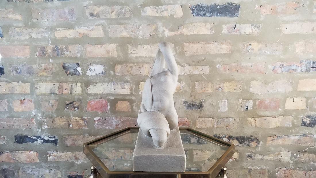 Art Deco Limestone Dancer Sculpture - 2