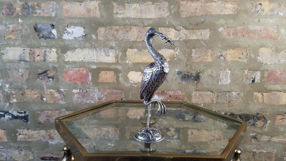 Dutch Sterling Heron Spice Container - 3