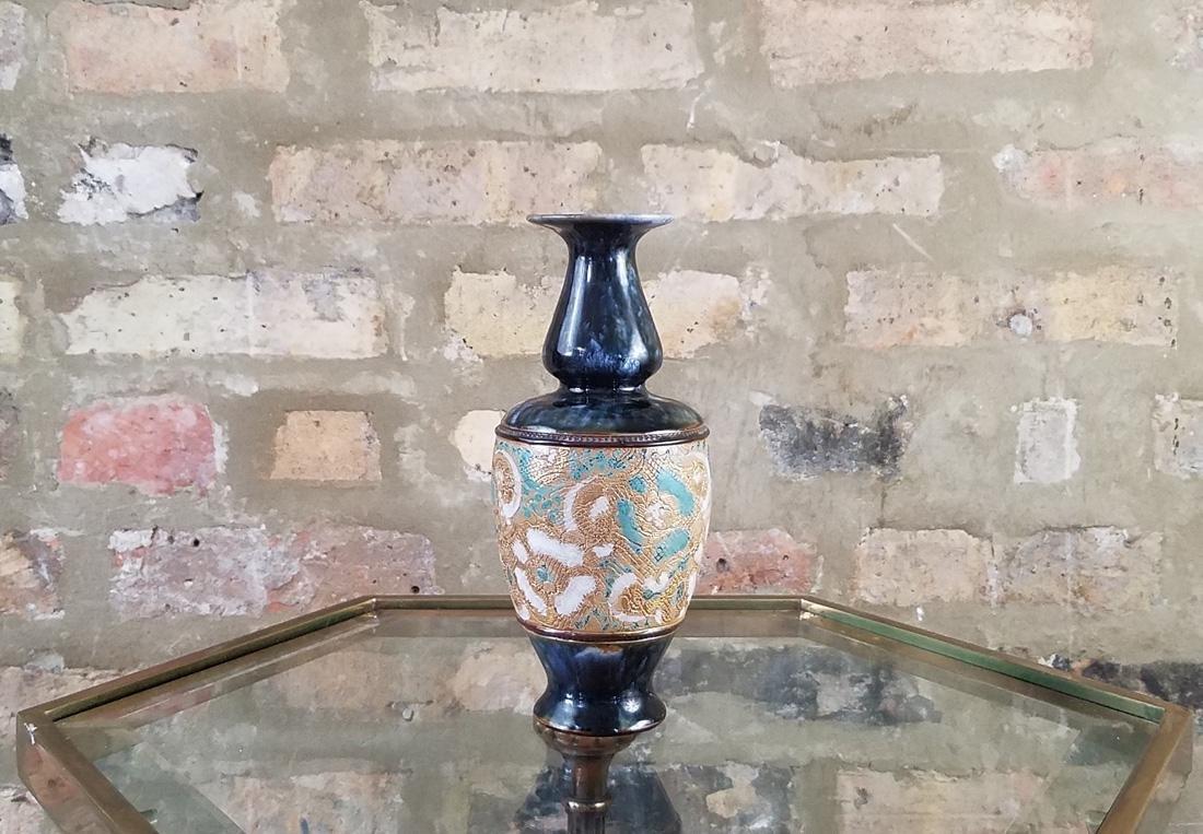 Royal Doulton Lambeth Baluster Vase by George Tinworth
