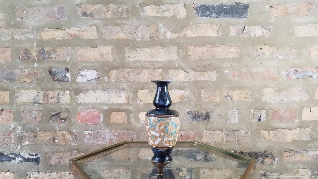 Royal Doulton Lambeth Baluster Vase by George Tinworth - 2