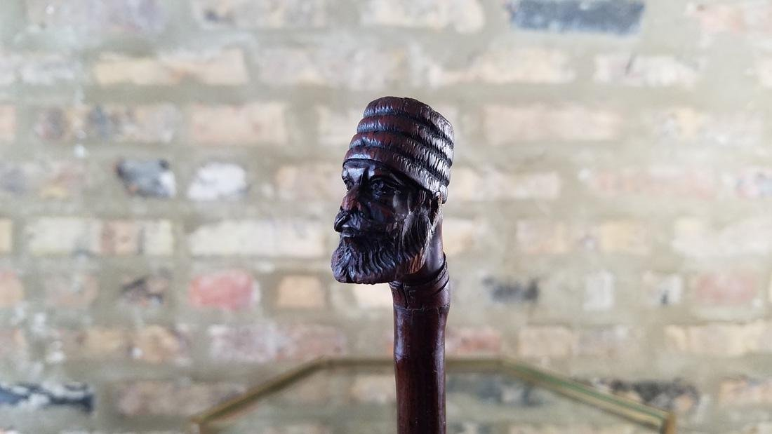 Antique French Walking Stick Depicting Middle Eastern