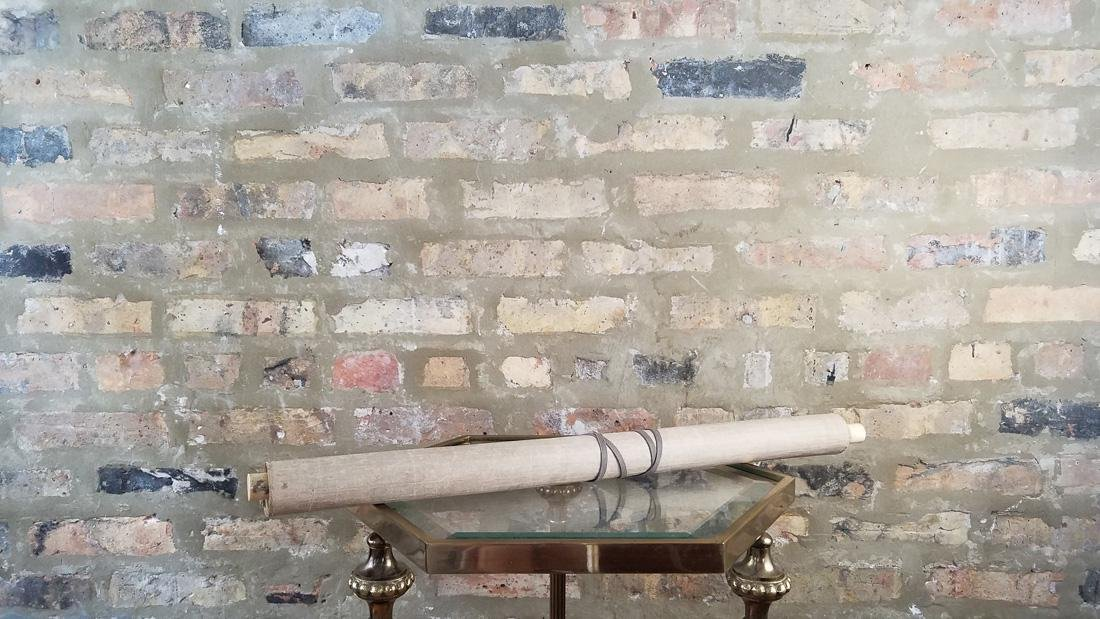 Early Japanese Hand Painted Scroll - 2
