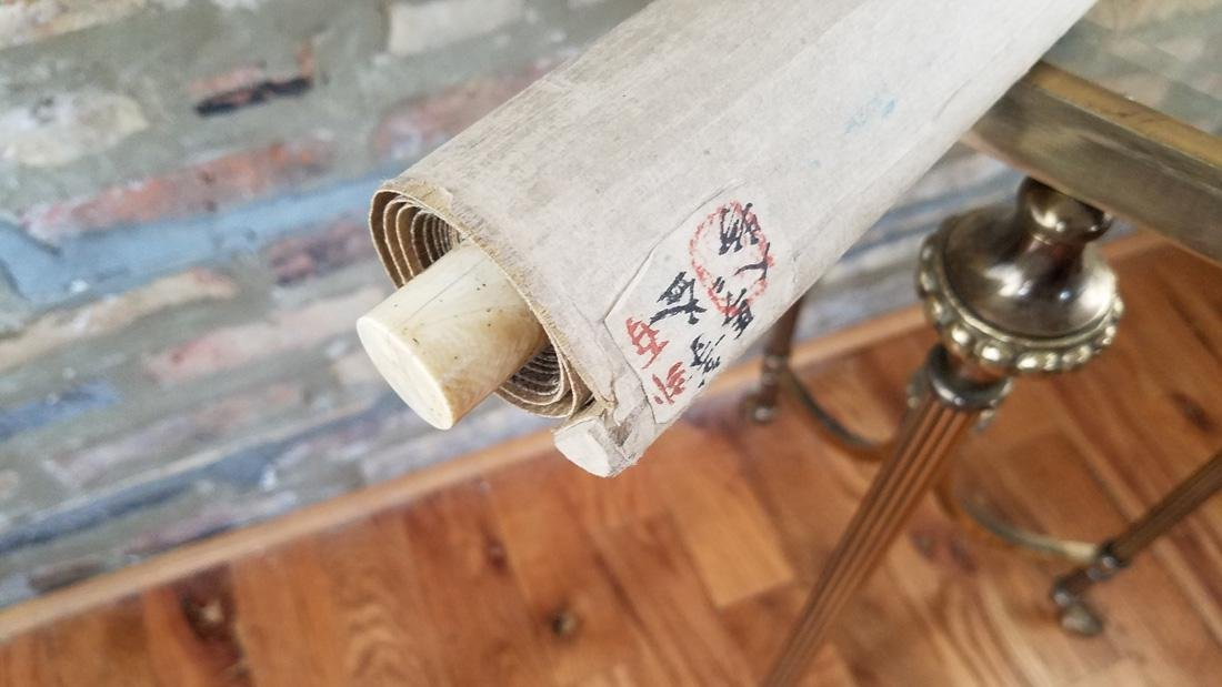 Early Japanese Hand Painted Scroll - 3
