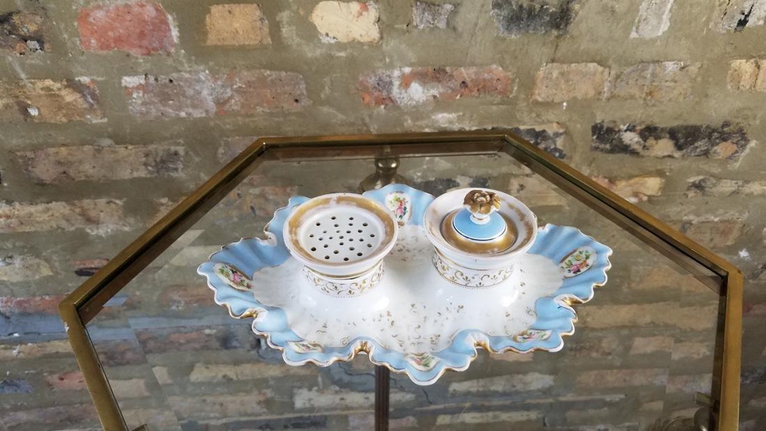 Pinkenhammer Bohemia 1815-1845 Porcelain Desk Set
