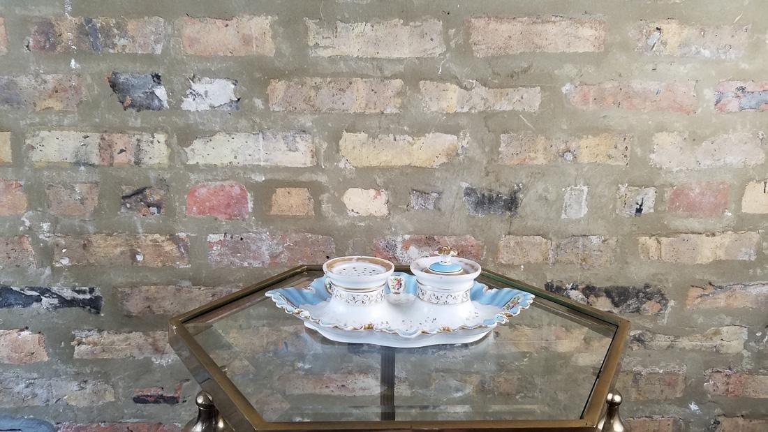 Pinkenhammer Bohemia 1815-1845 Porcelain Desk Set - 2