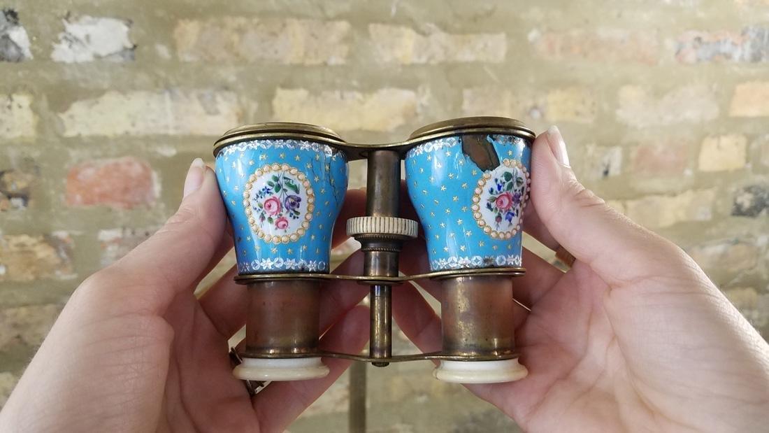 Sevres Bleu Celeste Enamel Opera Glasses - 3