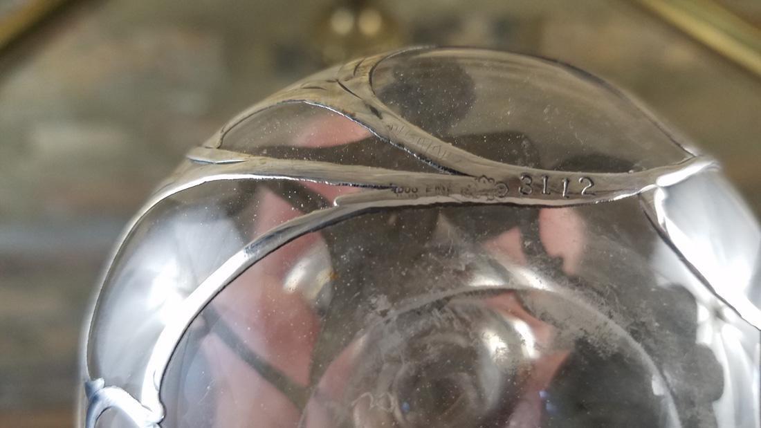 Antique Perfume Bottle Fine Silver - 2