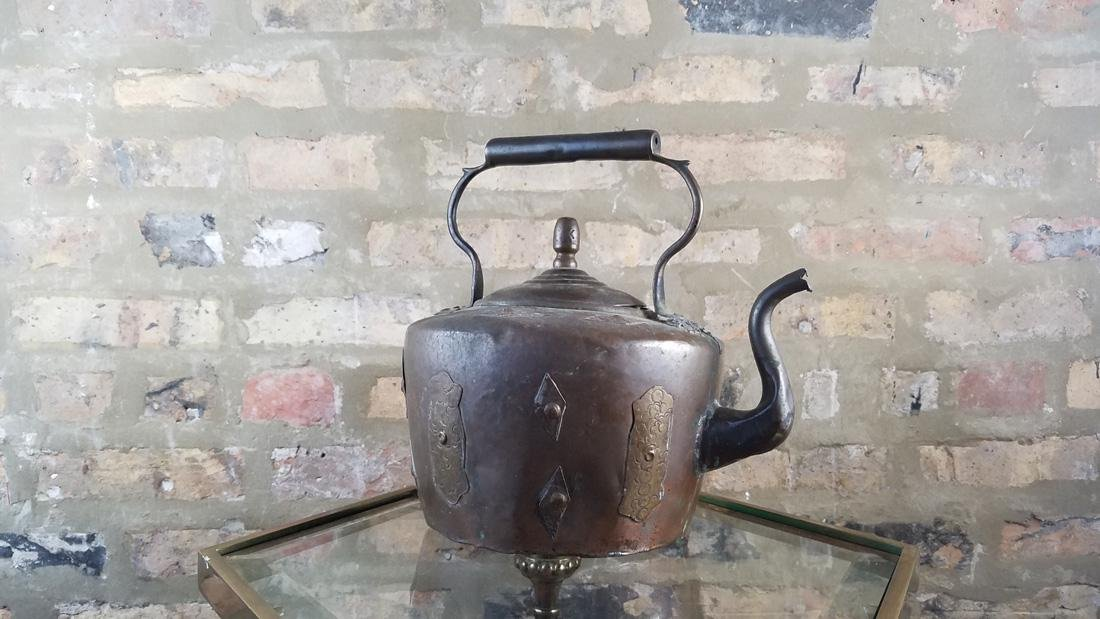 Antique Copper Kettle SIgned