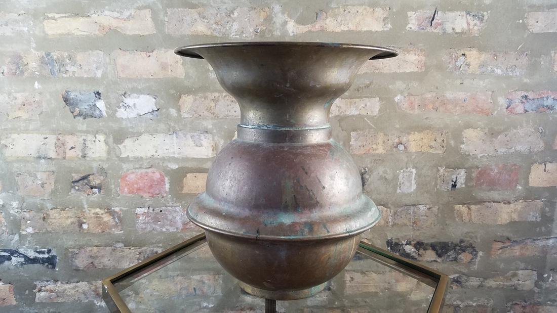Antique Brass Railroad Spittoon