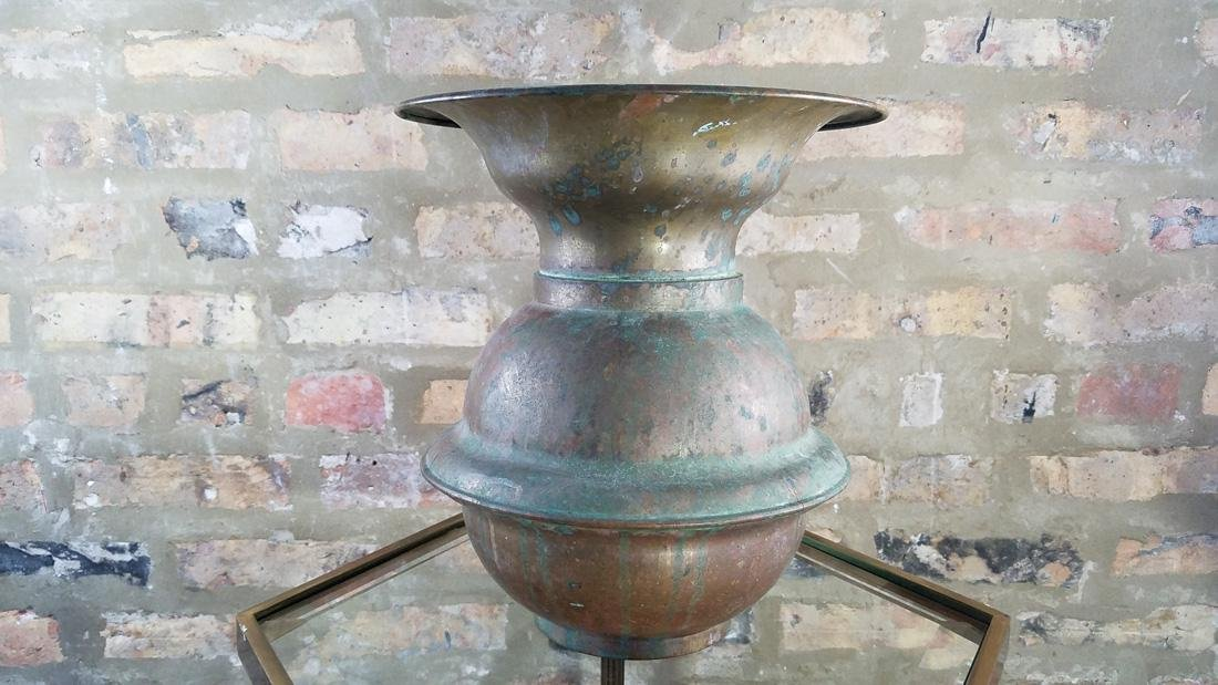 Antique Brass Railroad Spittoon - 2