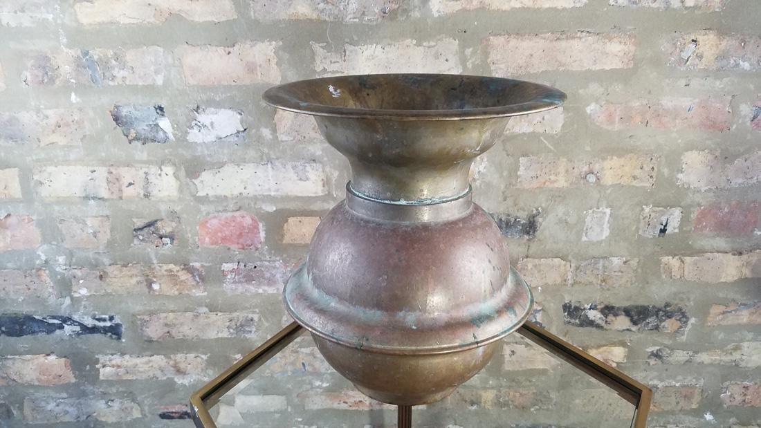 Antique Brass Railroad Spittoon - 4