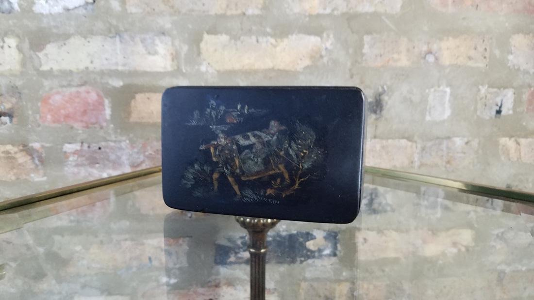 Chinese Antique Lacquered  Hand Painted Jewelry Box - 2
