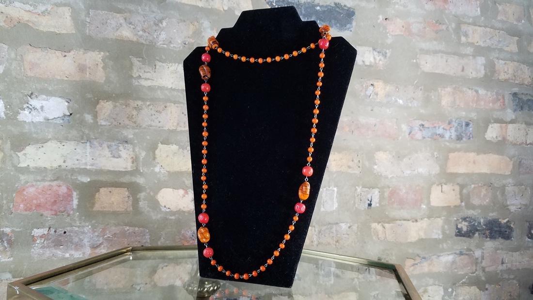 Art Deco Czech Flapper Beads