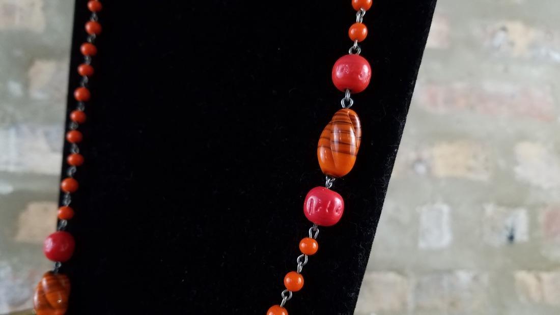 Art Deco Czech Flapper Beads - 2
